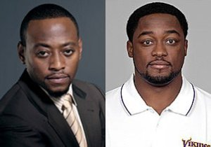 Omar Epps on the left, Mike Tomlin on the right